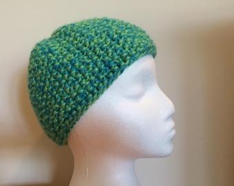Women's Knobby Blue-Green Hat