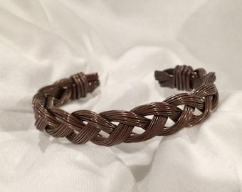 Custom Braided Copper Wire Cuff
