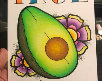 True Love Avacado print