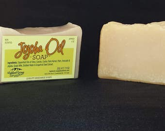 Jojoba Soap Handmade Soap Luxurious Soap Unscented Soap Natural Gift for Mom Cold Process Soap Natural Soap Bath Soap Face Soap