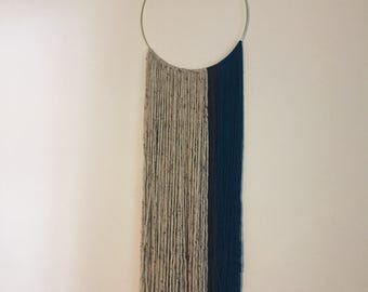 Custom yarn & brass wall hanging