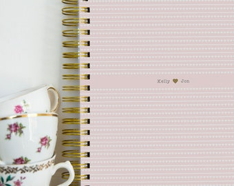 A4/A5 Wedding Planner - Pink hearts Design