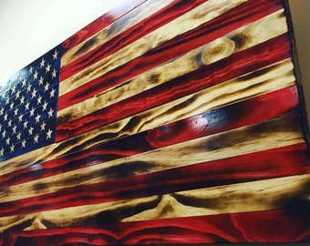 Distressed Wooden Flags
