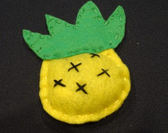 Cat Toy. Catni. Pineapple. Felt.