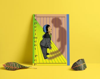 """1   Numbered and autographed print - illustration"""" Experiment Pop"""""""