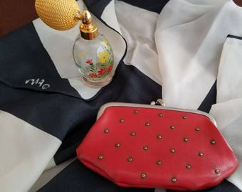 St. Thomas Studded Red Coin Purse