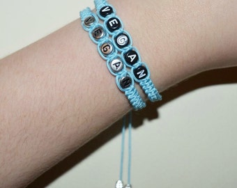 Baby Blue Vegan Bracelet
