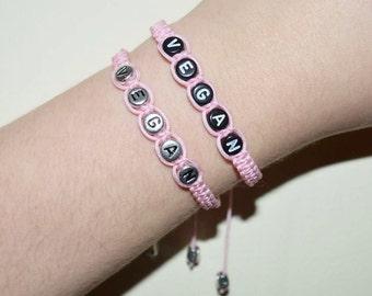 Baby Pink Vegan Bracelet