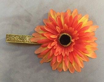 Orange Daisy Headband