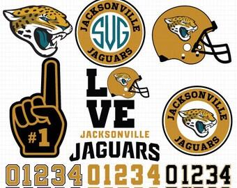 Jacksonville Jaguars- Cuttable Design Files(Svg, Eps,Dxf, Jpg) For Silhouette Studio, Cricut Design Space, Cutting Machines,Instant Download