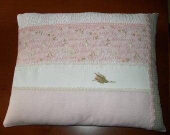 decorative cross stitch, patchwork crochet, romantic effect