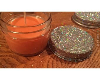 12 4oz Jenny's Soy Wax Homemade Quilted Mason Jars Candles!