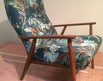 Mid Century Danish Arm Chair - Newly Upholstered - SOLD