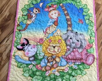 Baby Girl Jungle Quilt