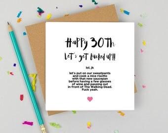 funny birthday card - 30th Birthday