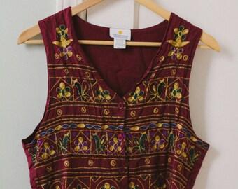 Vintage 1990's Women's vest Size M