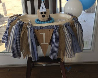 High Chair Fabric Birthday Garland/Banner