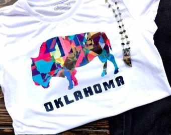 Oklahoma Buffalo Graphic Tee/Muscle Tank/Slouchy Tee