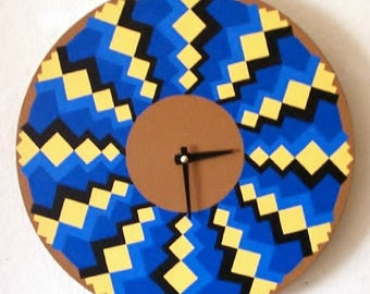Modern Wall Clock - Wave Pattern - Abstract
