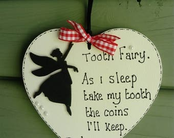 Tooth fairy heart plaque