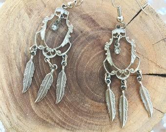 Vintage Silver Dreamcatcher Earrings