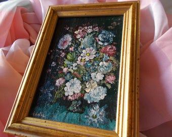 Handmade Painting Bouquet Flowers Art