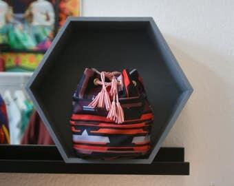 Mini Bucket ethnic vintage boho satchel bag fabrics pattern exclusive emilie sauzet unique piece