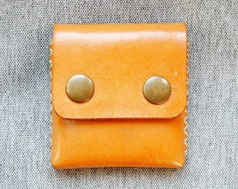 Leather Coin Purse - Natural