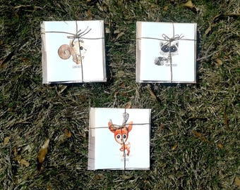 Forest Friends Stationary Set of Three