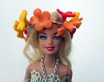 Wreath beadworks for Barbie dolls