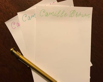 Personalized Stationery - Light Green