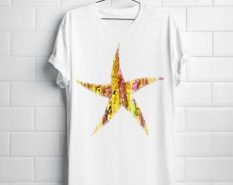Starfish T-shirt Art Tee Fashion Apparel Shirt White
