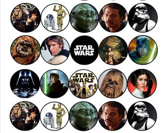 Star Wars Mini Edible Wafer Cupcake Toppers