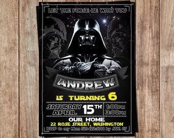 Star Wars Invitation - Star Wars Birthday - Darth Vader Invitation - Star Wars Invite - Star Wars Printables - Darth Vader Invite