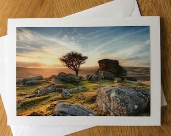 Hawthorn Tree, Dartmoor, Devon photography greetings card