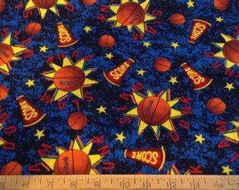 Basketball/slam dunk cotton fabric by the yard