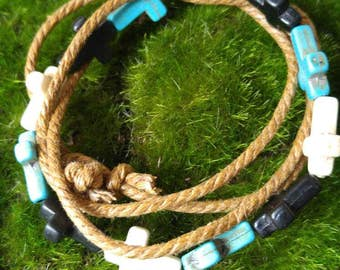 Cord Bead Multi-layer Bracelet