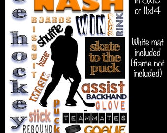 Personalized Ice Hockey Collage
