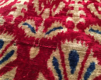 Silk Fabric, Velvet Ikat Fabric, Art Fabric, Floral Fabric, Artcraft Silk Fabric