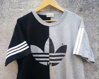 Vintage Rare! ADIDAS BIG LOGO T-shirt 90s