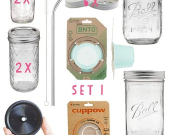 Set 1: the basics of mason jars - BNTO canning jar jars