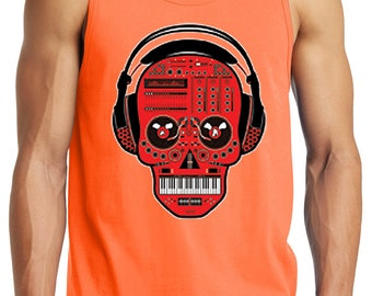 Men's DJ Headphone Skull Graphic Tank Top (Comes In 9 Colors!)
