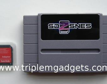 SD2SNES Super Nintendo Everdrive Cartridge With 8GB SD Card 1000+ Games Inc. Super Mario Kart