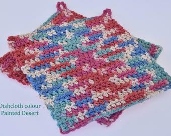 Crochet Dishcloths Painted Desert