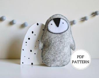 Penguin Softie Pattern   PDF Download   Wool Felt Toy