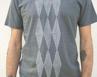 100 % Organic cotton handprint Tshirt man
