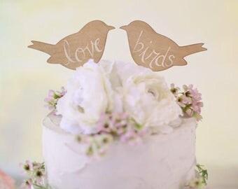 Rustic Wedding Cake Topper Love Birds We Do Vintage Chic Decor  (Item Number MHD100013)