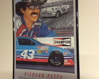 Vintage Richard Petty Commemarative 200 wins Poster