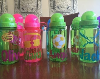 small personalized water bottle, kids personalized water bottle, personalized sports water bottle