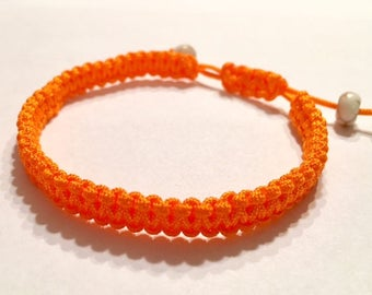 Orange Adjustable Bracelet